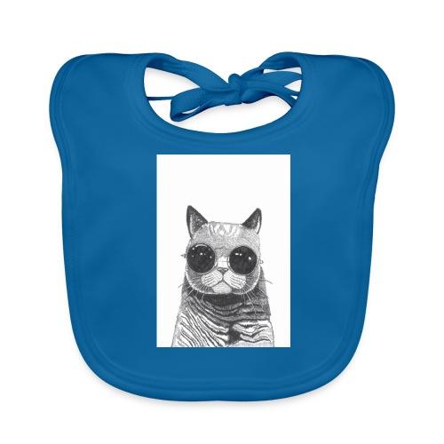 gato coool - Babero ecológico bebé