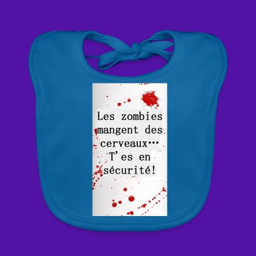 Les zombies mangent des cerveaux... - Bavoir bio Bébé