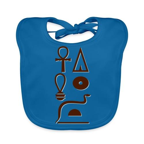 Hieroglyphen - Leben wie Re ewig - Baby Bio-Lätzchen