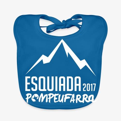 Esquiada Pompeufarra 2017 white - Babero ecológico bebé