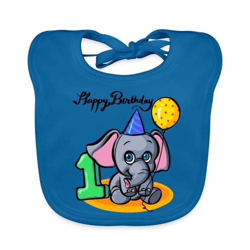 Happy Birthday Geburtstag Elefant - Baby Bio-Lätzchen