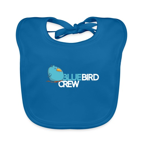 BlueCird Logo White - Baby Bio-Lätzchen