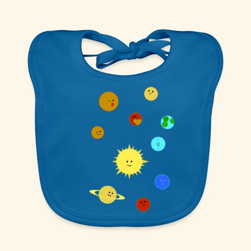 Solsystemet - Ekologisk babyhaklapp