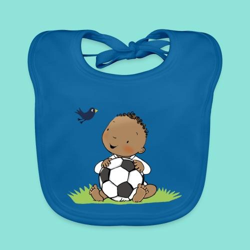 Cute Boy with ball - Bio-slabbetje voor baby's