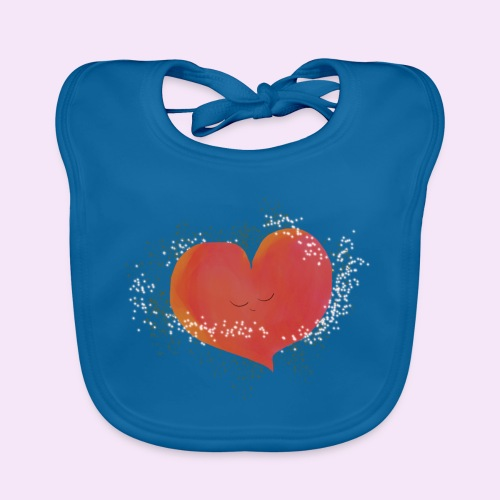 Blozend hartje kinder baby shirt - Bio-slabbetje voor baby's