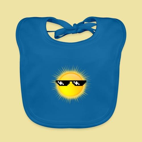 coole Sonne mit Sonnenbrille - Baby Bio-Lätzchen