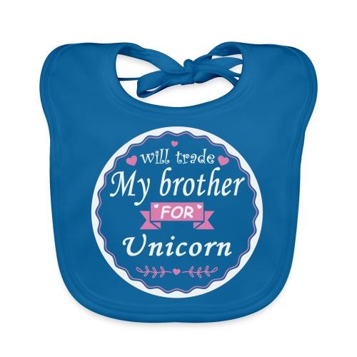 Trade my brother for unicorn - Organic Baby Bibs