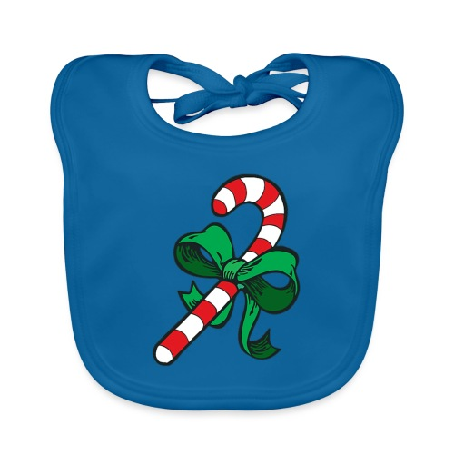 candy Cane - Organic Baby Bibs