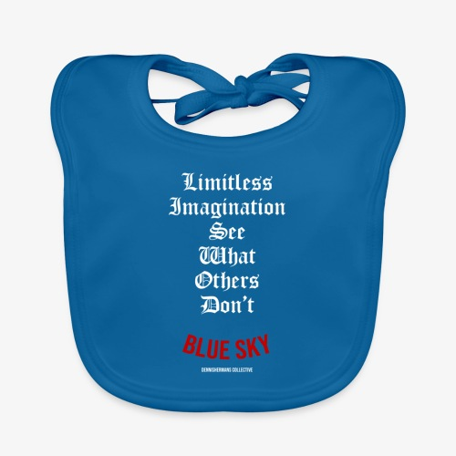 Limitless Imagination Wit - Bio-slabbetje voor baby's
