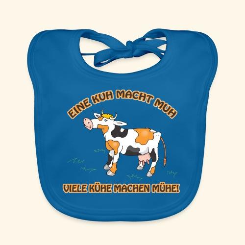 Eine Kuh macht MUH, viele Kühe machen Mühe! - Baby Bio-Lätzchen