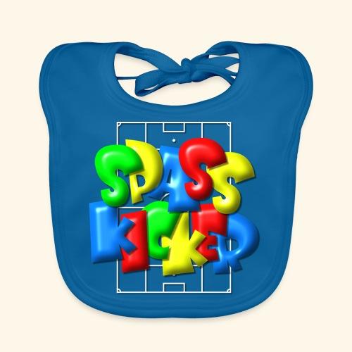 Spass Kicker im Fußballfeld - Balloon-Style - Baby Bio-Lätzchen