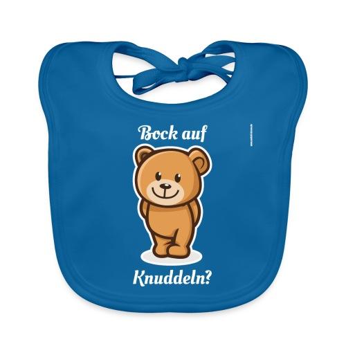 Teddybär - Bock auf Knuddeln? white-on-black - Baby Bio-Lätzchen