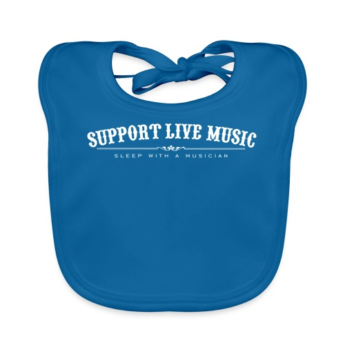Support Live Music - sleep with a musician - Baby Organic Bib