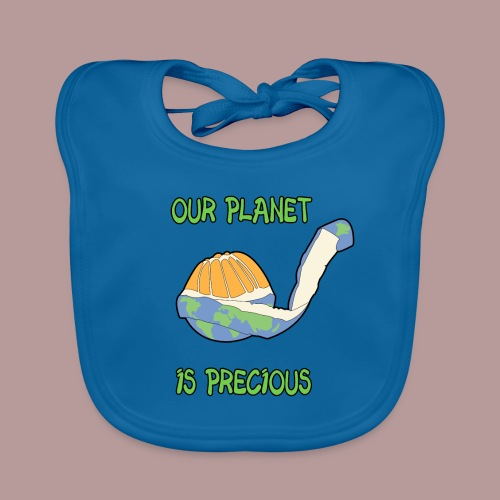 Our planet is precious - Bavoir bio Bébé