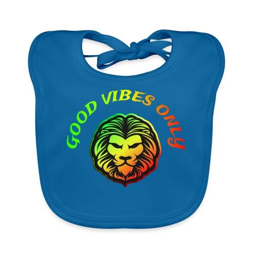 Roots Reggae Rasta Lion Good Vibes Only - Baby Bio-Lätzchen