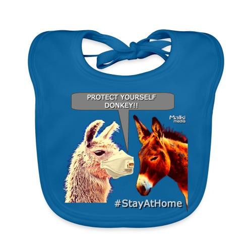 Protect Yourself Donkey - Coronavirus - Babero de algodón orgánico para bebés