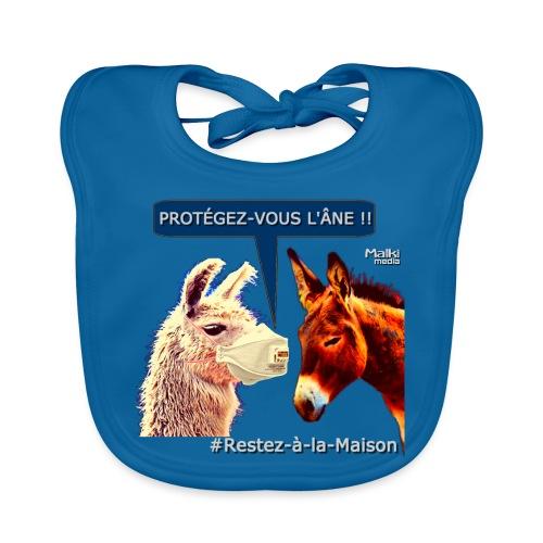 PROTEGEZ-VOUS L'ÂNE !! - Coronavirus - Babero de algodón orgánico para bebés