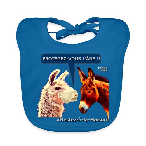 PROTEGEZ-VOUS L'ÂNE !! - Coronavirus - Bavoir bio Bébé