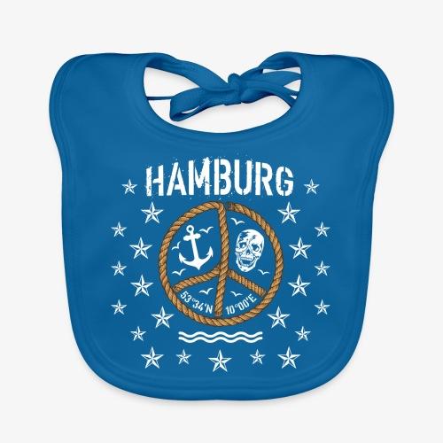 103 Hamburg Totenkopf Koordinaten Peace Anker Seil - Baby Bio-Lätzchen