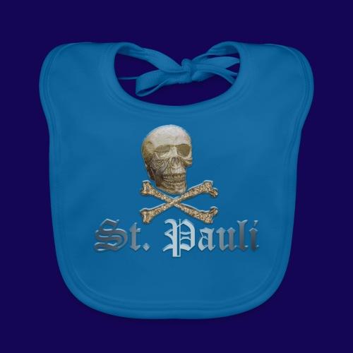 St. Pauli (Hamburg) Piraten Symbol mit Schädel - Baby Bio-Lätzchen
