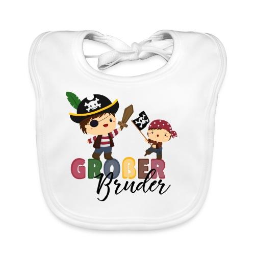 Großer Bruder Piraten - Baby Bio-Lätzchen
