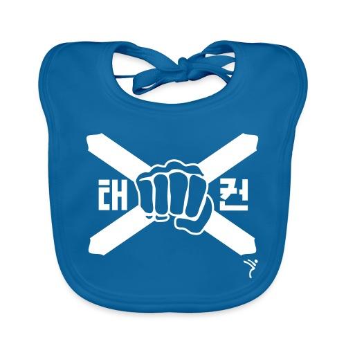 Scotland Taekwondo ITF fist and flag motif - Baby Organic Bib