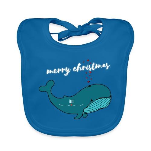 Wal merry Christmas - Baby Bio-Lätzchen