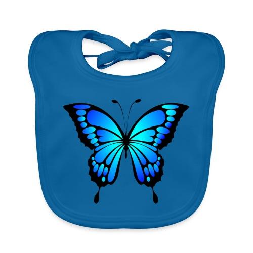 Mariposa - Babero de algodón orgánico para bebés