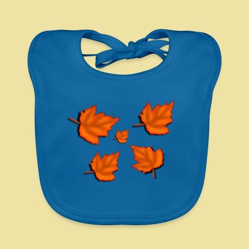 Herbstblätter - Baby Bio-Lätzchen