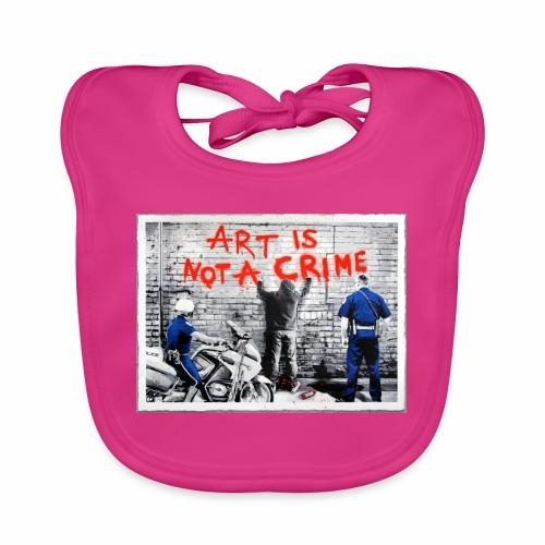 Art I not a crime - Ekologisk babyhaklapp