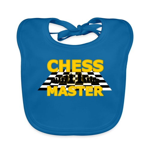 Chess Master - Black Version - By SBDesigns - Baby Organic Bib
