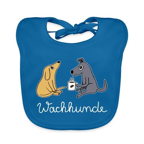 Wachhund trinkt Kaffee Koffein weckt müde Hunde - Baby Bio-Lätzchen