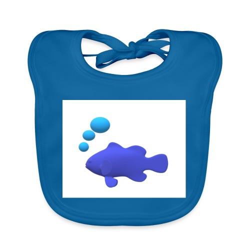 Silhouette Pesce - Bavaglino ecologico per neonato
