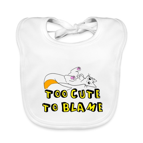 Too Cute To Blame - Baby Organic Bib