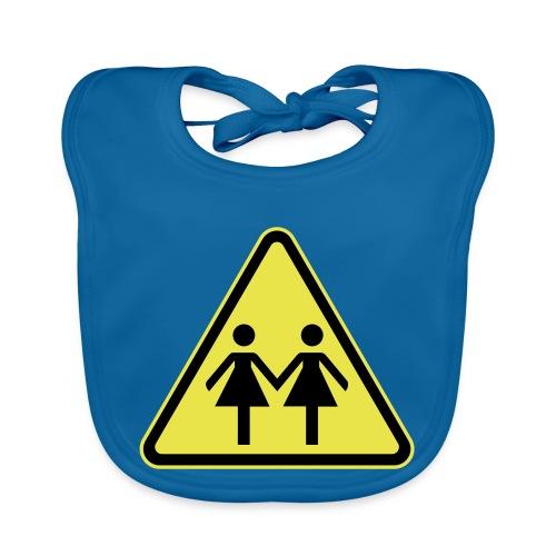 ACHTUNG LESBEN POWER! Motiv für lesbische Frauen - Baby Bio-Lätzchen