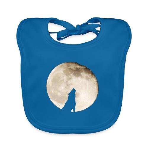 The wolf with the moon - Bavoir bio Bébé