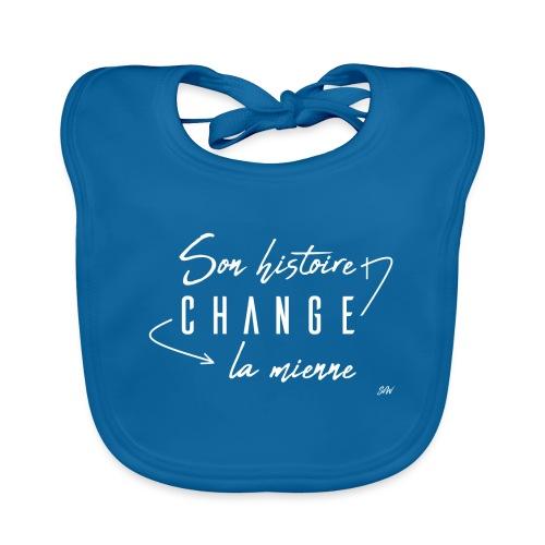 Son histoire change la mienne (blanc) - Bavoir bio Bébé