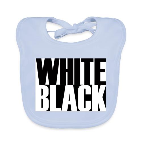 White, Black T-shirt - Bio-slabbetje voor baby's