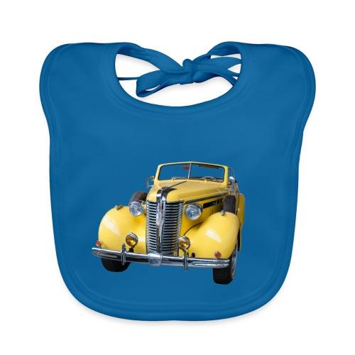 Gele klassieke auto1920 - Bio-slabbetje voor baby's