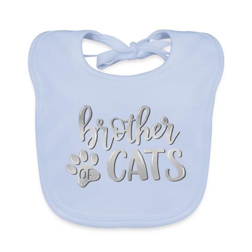 brother of cats grau - Baby Bio-Lätzchen