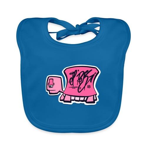 Tag turtle / Pink Schildkröte Logo - Baby Bio-Lätzchen