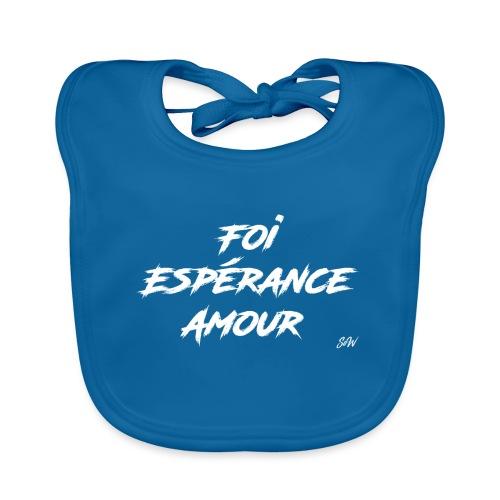 Foi Espérance Amour - Bavoir bio Bébé