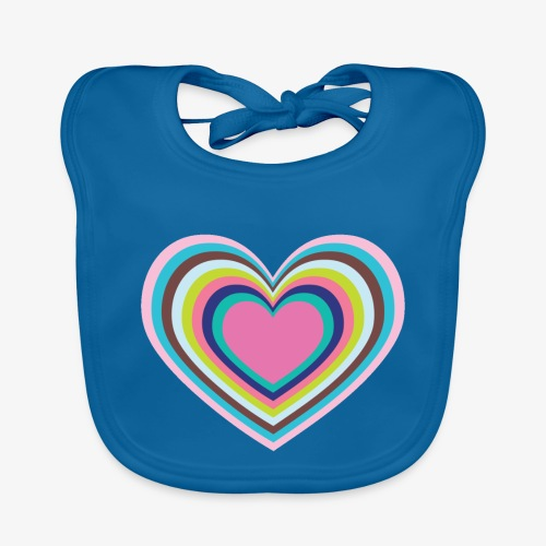 Psychedelic Heart - Baby Organic Bib