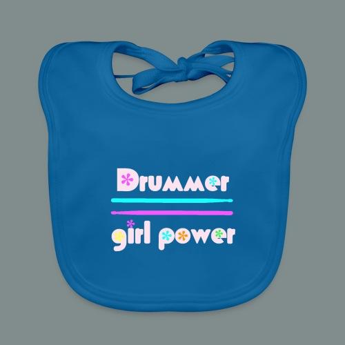 Drummer girlpower rose - Bavoir bio Bébé