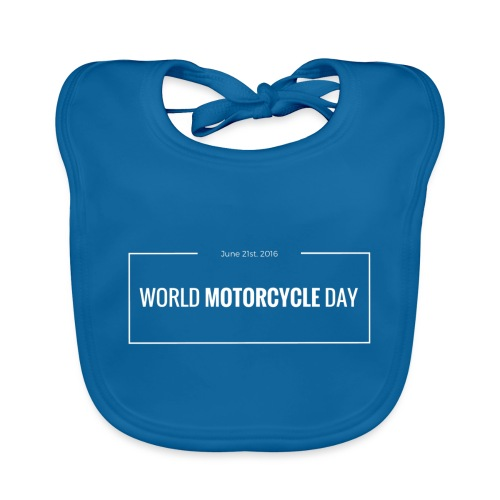 Official World Motorcycle Day 2016 Coffee Mug BLK - Baby Organic Bib