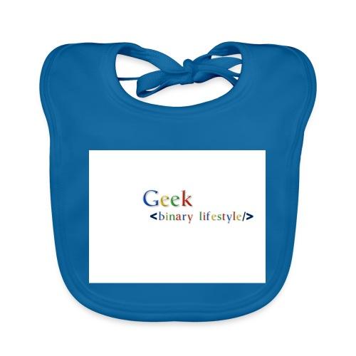 geek_life_style_google_font - Babero de algodón orgánico para bebés