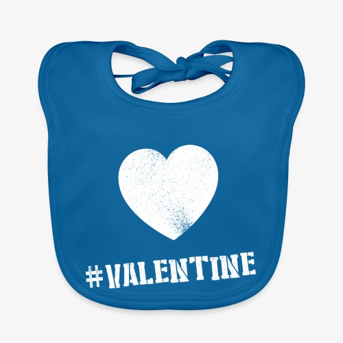 Hashtag Valentine Woman - Bio-slabbetje voor baby's