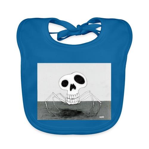 skull spider - Ekologisk babyhaklapp