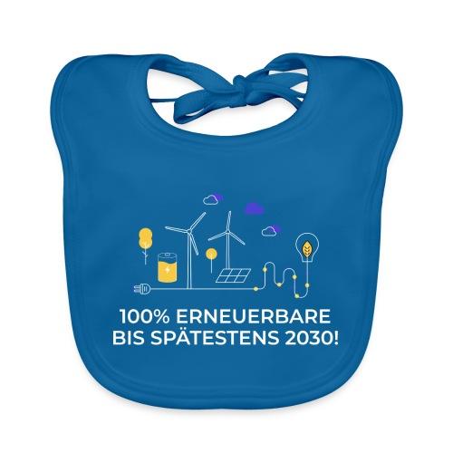 100% Erneuerbare bis spätestens 2030 weiß - Baby Bio-Lätzchen