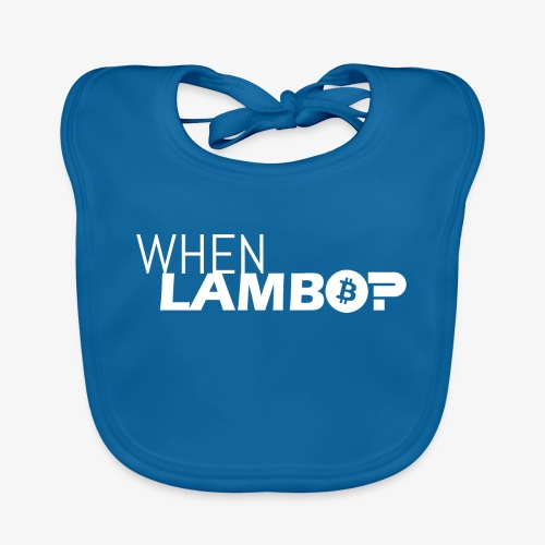 HODL-when lambo-w - Baby Organic Bib